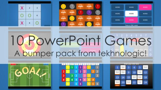 10 PowerPoint Games  tekhnologic